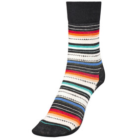Smartwool Margarita Socks Women Black/Multi Stripe